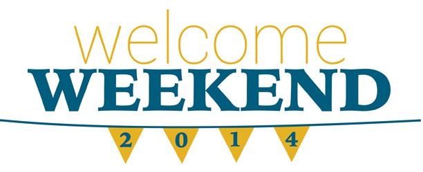 Students Return for Welcome Weekend, August 21-24, 2014