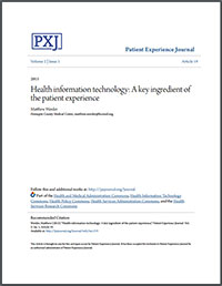 Health Information Technology: A Key Ingredient of The Patient Experience